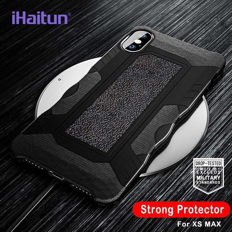Ihaitun Luxury Shock Proof Armor Case For Iphone Xs Max Xr X Cases Military Protector Back Cover For Iphone 7 8 Plus Phone Cases