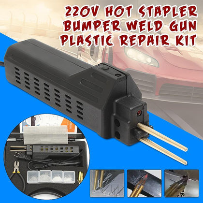 Best Price 220-250V Hot Stapler Car Bumper Plastic Welding Torch Fairing Auto Body Tool Welder-Machine 0.6/0.8mm + 200 Staples