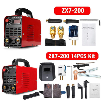 Portable 220V 10-200A 4000W Handheld Mini MMA IGBT Inverter Mini Electric ARC Welding Welder-Machine Tool Helmet Mask Gloves