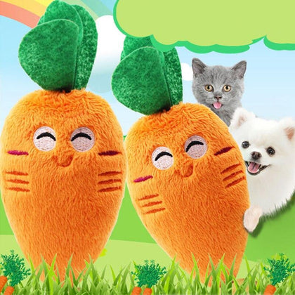 Pet Dog Toys For Dog Chew Squeaky Toy For Pet Plush Canvas Bite Toys For Dog Cite Vocal Simulation Animals Vegetable Fruit Toy
