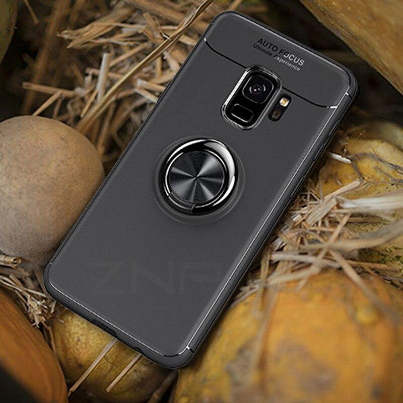 Znp For Samsung Galaxy S8 S9 Plus Case S7 Edge Car Holder Stand Magnetic Bracket Finger Ring Tpu Case For Samsung S9 Plus Note 8