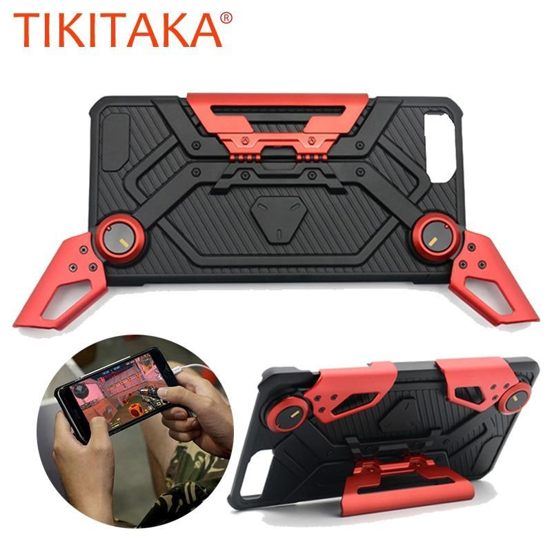 "Cool Shockproof Armor Case For Iphone X 8 7 6 6S Plus Cover Multifunction 4.7"" 5.5"" Phone Cases With Holder Stand + Game Handle"