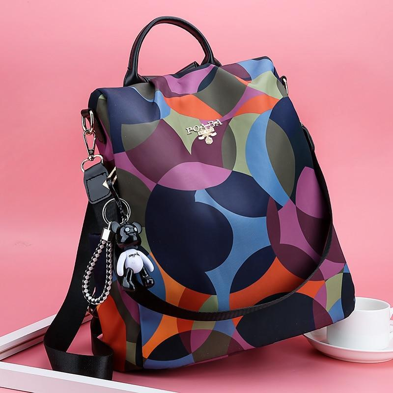 New Backpack Women Oxford Multifuction Bagpack Casual Anti Theft Backpack For Teenager Girls Schoolbag 2019 Sac A Dos Mochila (Colorful)