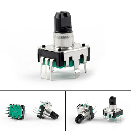 Areyourshop Potentiometer Rotary Encoder With Switch EC12 Audio Digital Potentiometer 10mm Handle 2/8Pcs Wholesale Switches