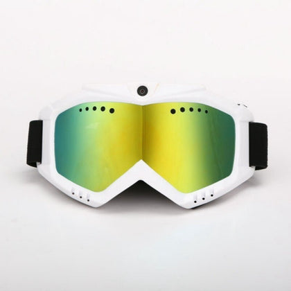 HD 1080P Camera with Ski-Sunglass Goggles with Colorful Double Anti-Fog Lens for Ski / Transparent Lens for Moto Free Shipping