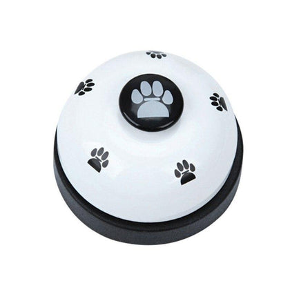 1PC Pet Toy Training Called Dinner Small Bell Footprint Ring Dog Toys For Teddy Puppy Pet Call