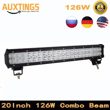 Led Driving Light 20inch 126W Combo Beam Offroad Led Light Bar for 12V 24V Boat Car Tractor Truck 4WD 4x4 SUV ATV Tractor
