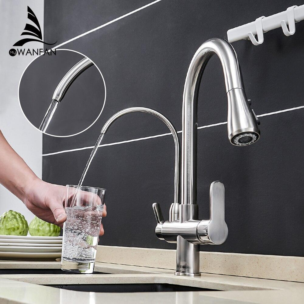 Kitchen Faucets Torneira Para Cozinha De Parede Crane For Kitchen Water Filter Tap Three Ways Sink Mixer Kitchen Faucet Wf-0195