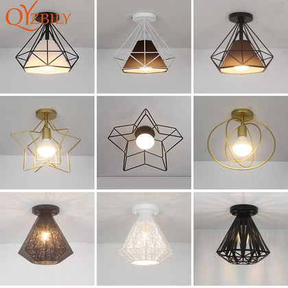 Ceiling lights Minimalist Retro Ceiling Lamp Glass E27 industrial decor  lamps for living room Home Lighting Lustre Luminaria