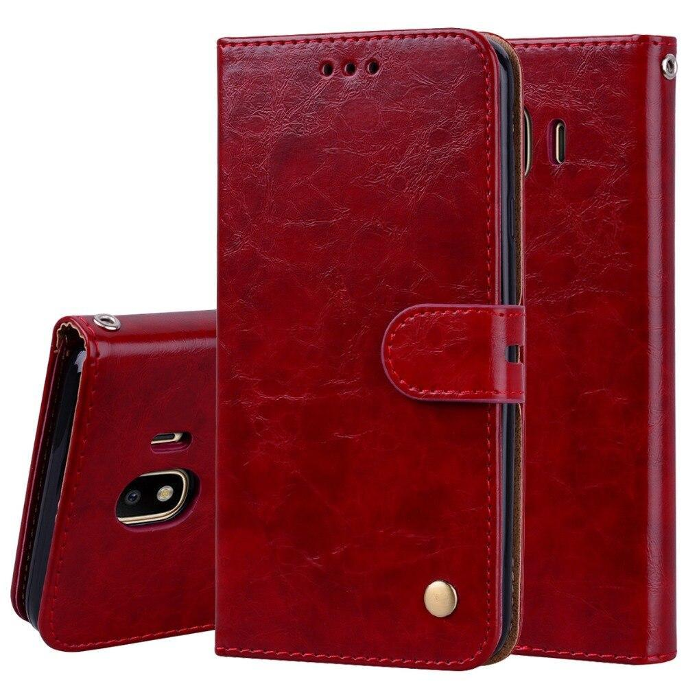 For Galaxy J4 2018 Wallet Leather Case Premium Leather Wallet Flip Case For Samsung Galaxy J4 Sm-J400F J400F J400 J4 Plus J415F