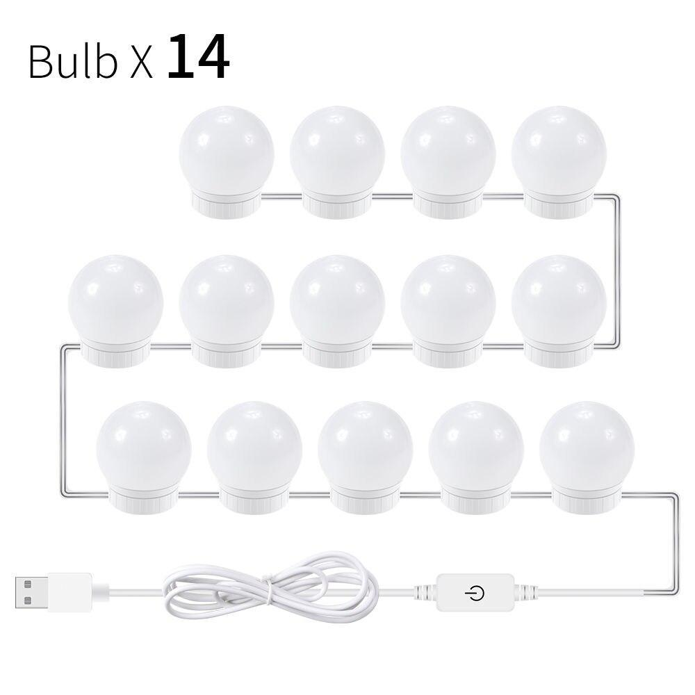 Canling 12V Makeup Vanity Led Light Bulbs Kit Stepless Dimmable Hollywood Make Up Mirror Bulb Bathroom Wall Lamp Dressing Table