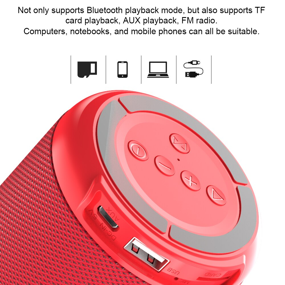 DACOM Q53 Portable Bluetooth Speaker Outdoor Bicycle Wireless Speakers Sound Box with Mic for PC Computer Cellphone TV