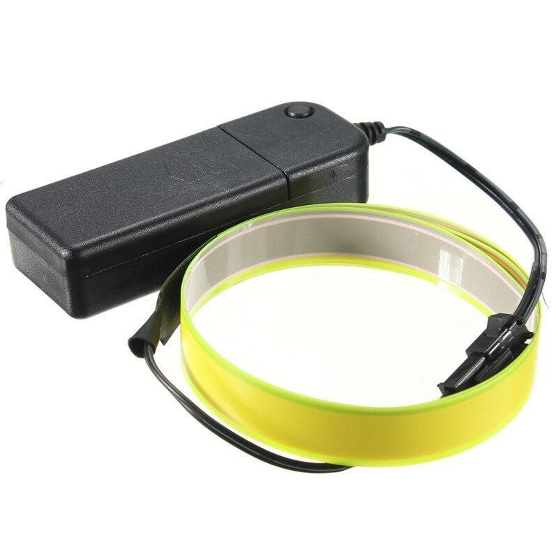 1M 3V Flexible El Tape Light Led Glow El Wire Rope Cable Waterproof Led Strip Lights +3V Battery Case For Car Shoes Clothing