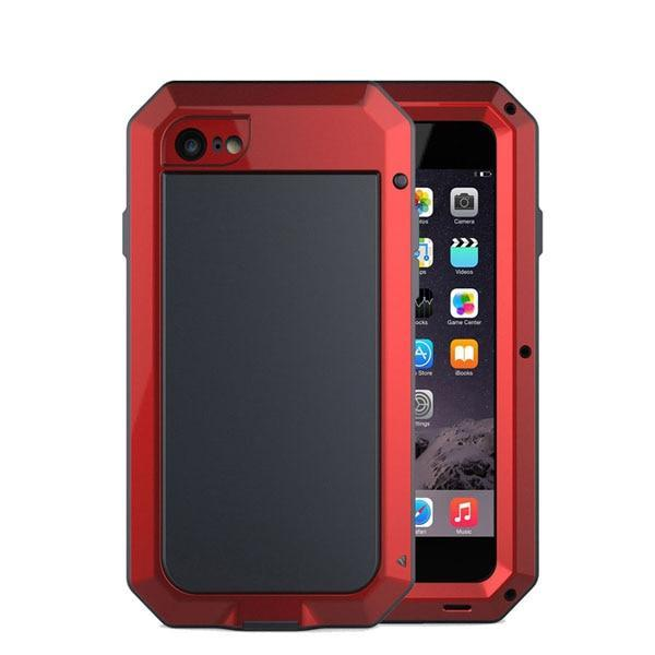 Shockproof Doom Armor Waterproof Metal Aluminum Phone Cases For Iphone X 8 7 6 6S Plus 5S Se Case Cover Screen Glass Film