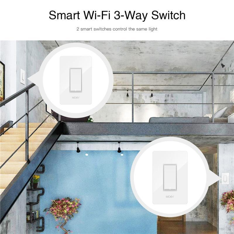 3 Way Wifi Smart Light Switch Light Fan Control App Remote Control Works With Alexa And Google Home, No Hub Required