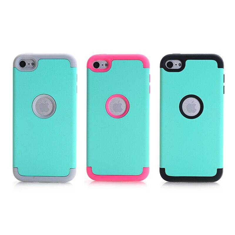 Case For Apple Case Ipod Touch 6 Hybrid Hard Impact & Silicone Phone Cases Fundas W/Screen Protector Film+Stylus Pen Gifts