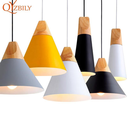 Pendant Lights Lustres Abajur Pendant Lamp Luminaire Hanglamp Colorful Aluminum Lamp Shade For Home Lighting Dining Room Lampsha