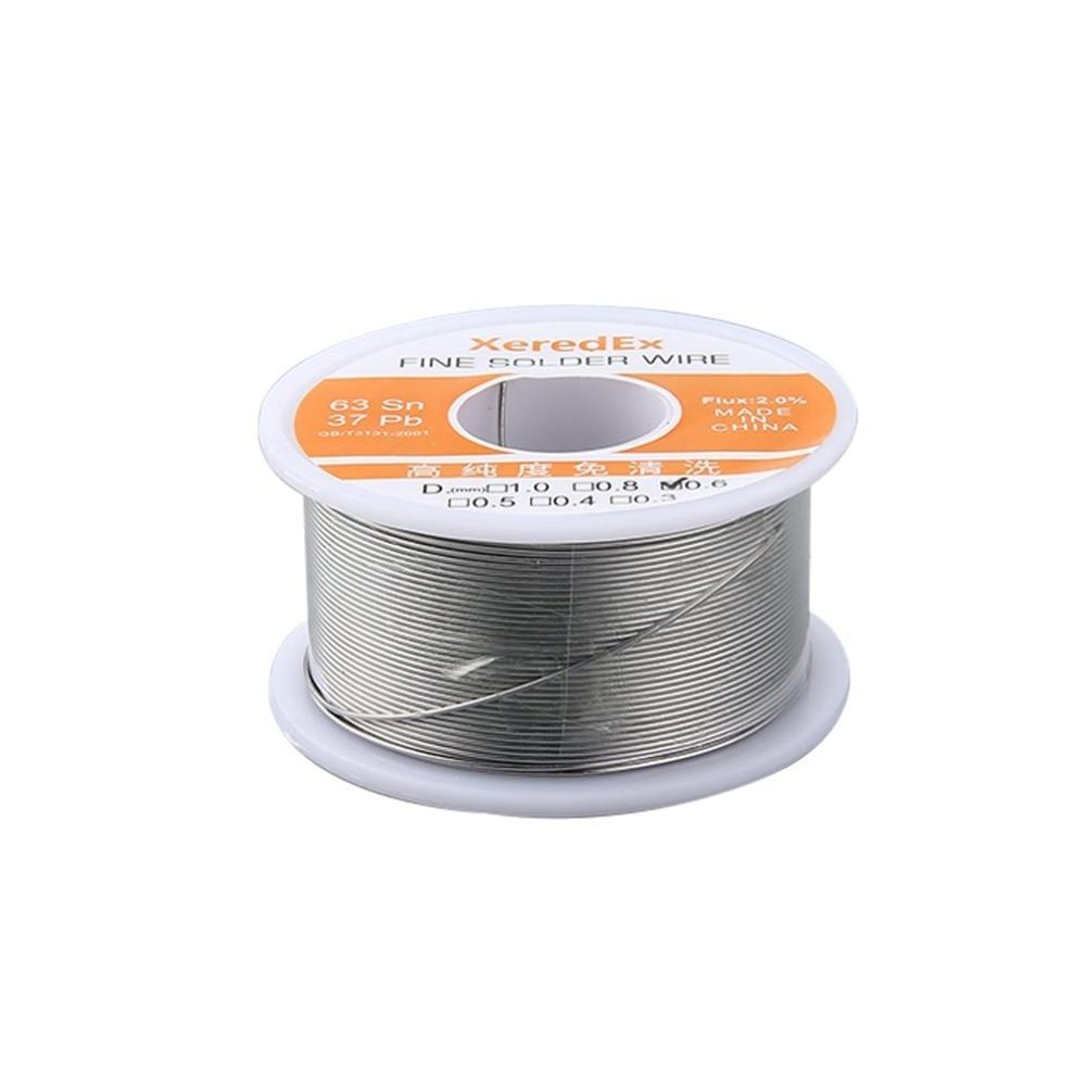 Tin Lead Rosin Core Solder Wire 0.6Mm 0.8Mm 1.0Mm 2% Flux Reel Welding Solder Wire Welding Soldering Repair Tool Reel Melt Kit