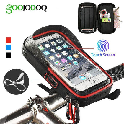 Bicycle Phone Holder Waterproof Bag Bike Phone Case handlebar MTB Frame Pouch Bag for iPhone X 8 7 Samsung XIAOMI GPS Universal