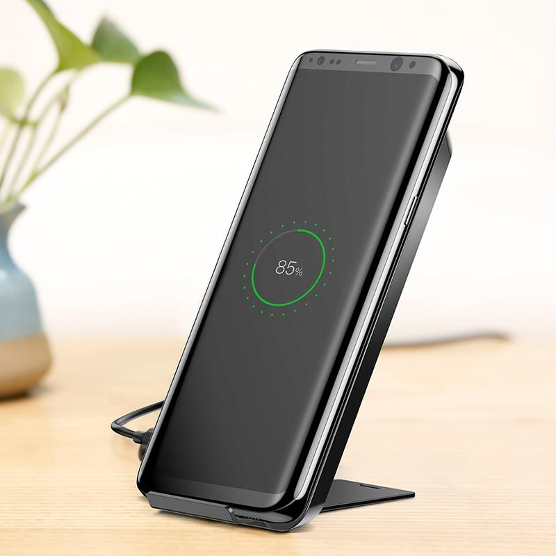 Baseus Qi Wireless Charger Fast Charger Quick Charging For Iphone X Samsung Galaxy S9 Mobile Phone Charger For Phone Stand