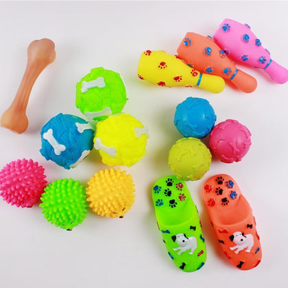 Pet Toys Dog Ball Squeeze Sound hondenspeelg For Small Large Dog Molar Bite Training Decompression Vent Toys Variety Jouet Chien