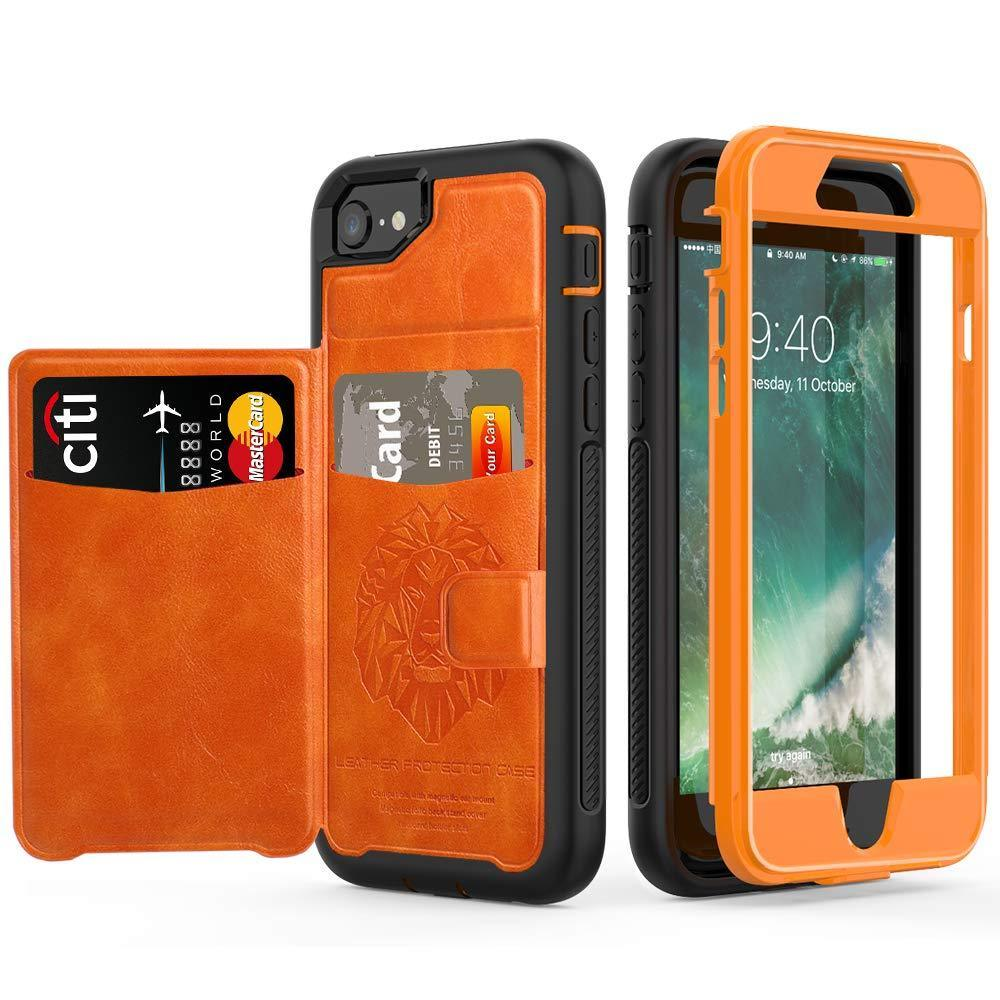 For Iphone 6 6S 7 8 Plus X Xs Xr Xs Max Case Hybrid Tough Armor Slide Card Holder Cover Luxury Magnetic Flip Wallet Case