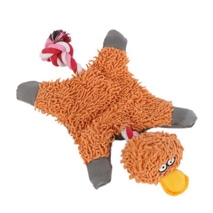 Lovely Pet Supply Cute Papa Duck Plush Dog Toy With Rope Dog Toys New