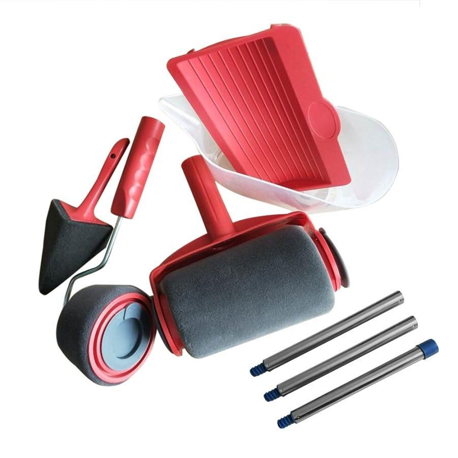2/3/5/8/9Pcs/Set Paint Runner Pro Roller Brush Handle Brush Office Room Wall Painting Home Garden Pain Tool Set For Wall