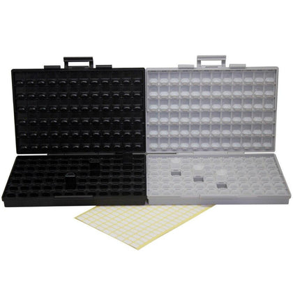 AideTek  plastic toolbox SMD storage enclosure BOX + ESD safe IC diode enclosure box UK DE ship plastic part box BOXALLCOMBO