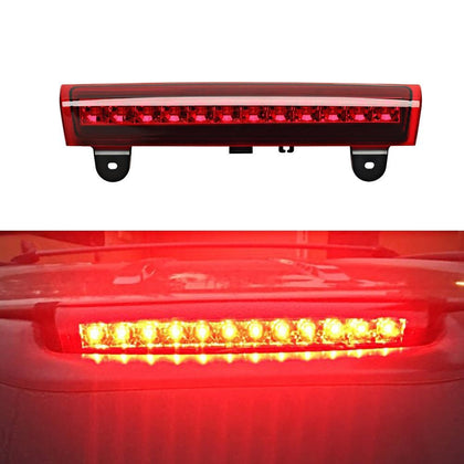 Third Brake Light Center High Mount Stop Light Lamp Replacement for Chevrolet/GMC/SUV Red/White/Smoked Lens
