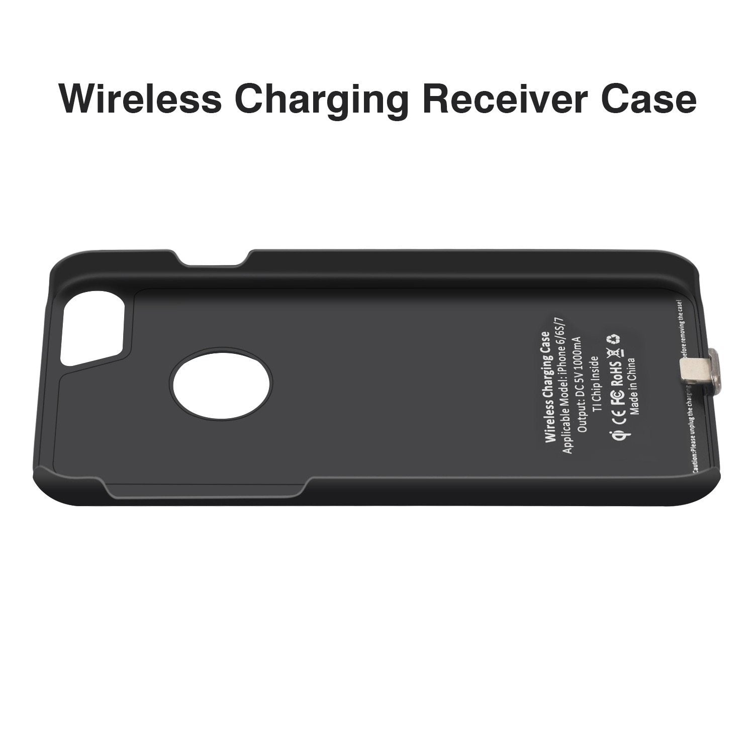 Qi Wireless Charger Receiver Case For Iphone 7 6 6S Mobile Phone Case Wireless Charging Transmitter Cover For Iphone 7 Plus 6 6S