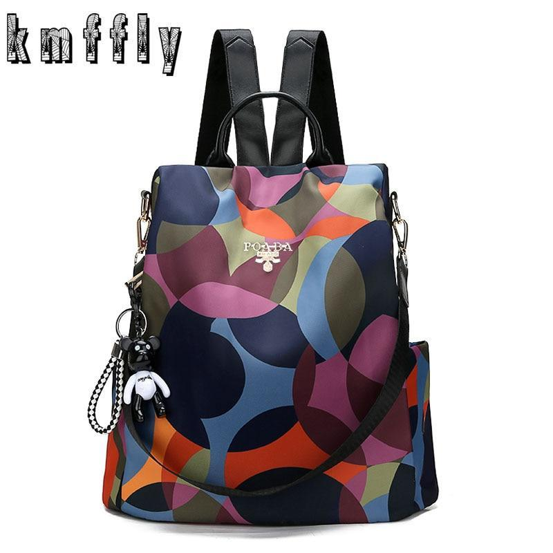 Kmffly Backpack Casual Anti Theft Backpack For Teenager Girls Women Oxford Multifuction Bagpack Schoolbag 2019 Sac A Dos Mochila (Color)