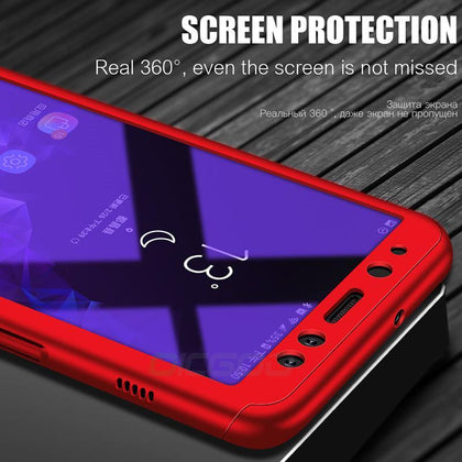 OICGOO 360 Full Cover Case For Samsung Galaxy A7 A6 A8 J4 J6 J8 Plus 2018 Phone Cases For Samsung Galaxy A5 A7 2017 Case Coque