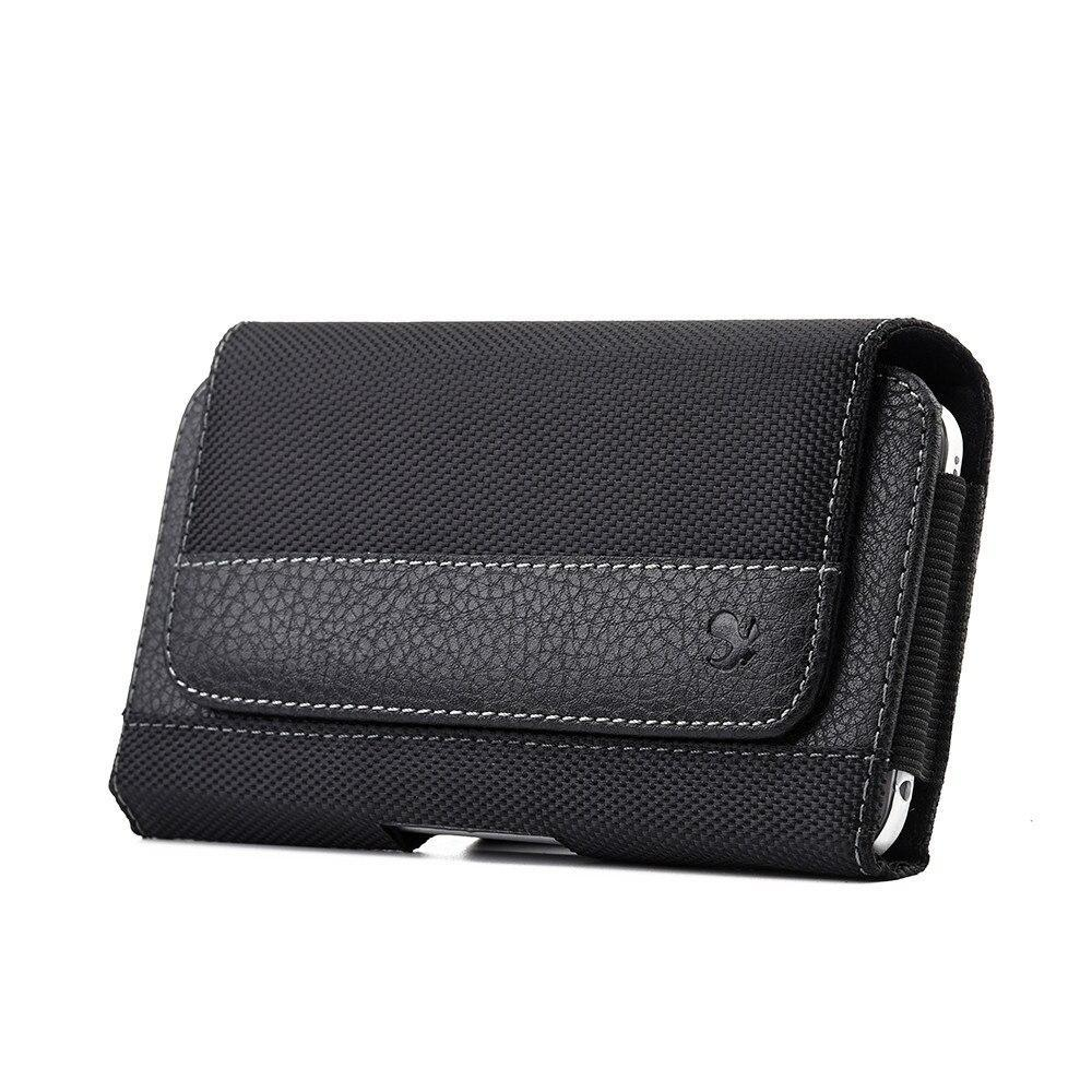 Belt Clip Pouch Case Flip Magnetic Wallet Leather Phone Case For Iphone Xs Max Xr 6 7 8 Plus Universal Mobile Phone Waist Bag (Universal Phone Case Below 5.5 Inch)