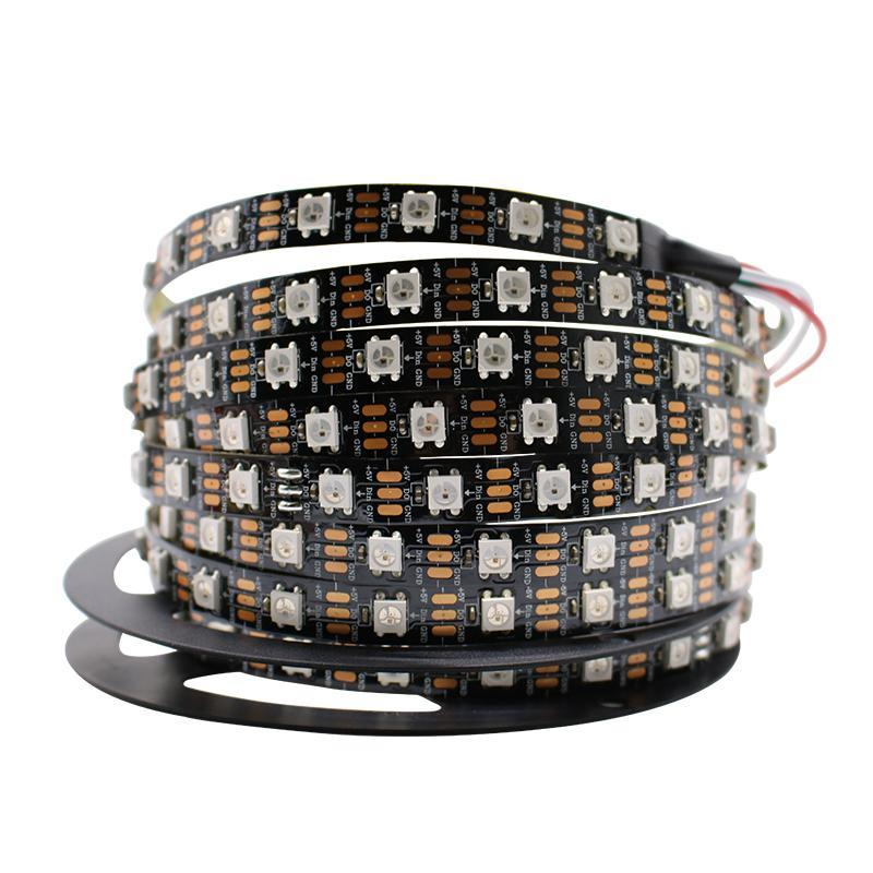 Ws2812 Ws2812B Led Strip Light 60Pixels/M 144Pixels/M Smart Individually Addressable Rgb Ws2812 Ic 5050 Led Tape String Lamp 5M