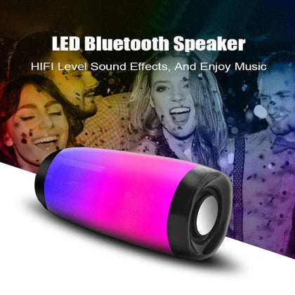 Wireless Bluetooth Speaker LED Portable Boom Box Outdoor Bass Column Subwoofer Sound Box  with Mic Support TF FM USB Subwoffer