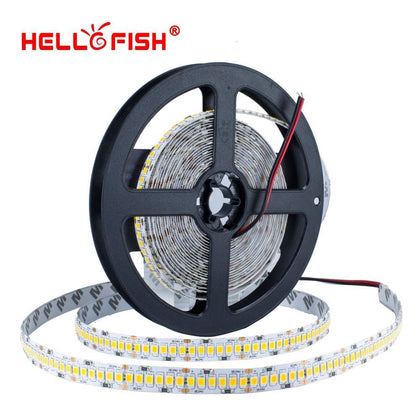 2835 LED strip 5M 1200 LED high brightness 12V LED Flexible PCB LED backlight White Warm White 240 LED/m
