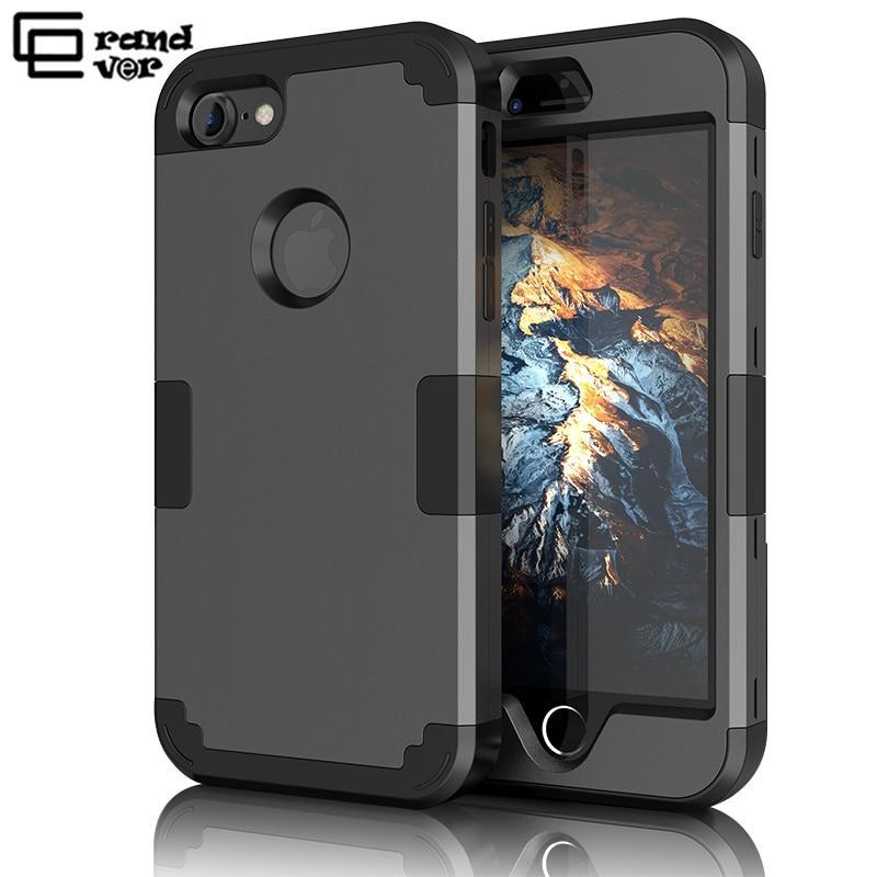 Luxury Hard Pc Case For Iphone 7 6 6S 8 Plus Xr Xs Max Case For Iphone X 5 5S Se 360 Cases 3 In 1 Anti Shock Armor Rugged Cover