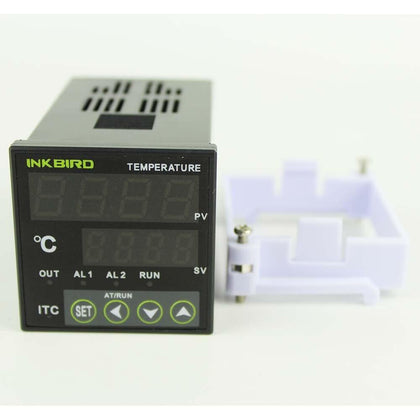 Inkbird PID Temperature controller Thermostat AC 100 - 220V ITC-100VH+K Sensor +40A SSR For Home Brewing,Carboy,Green House
