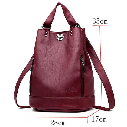 LANYIBAIGE Women Backpack High Quality Leather Backpacks for Teenage Girls Female School Shoulder Bag Bagpack mochila plecak