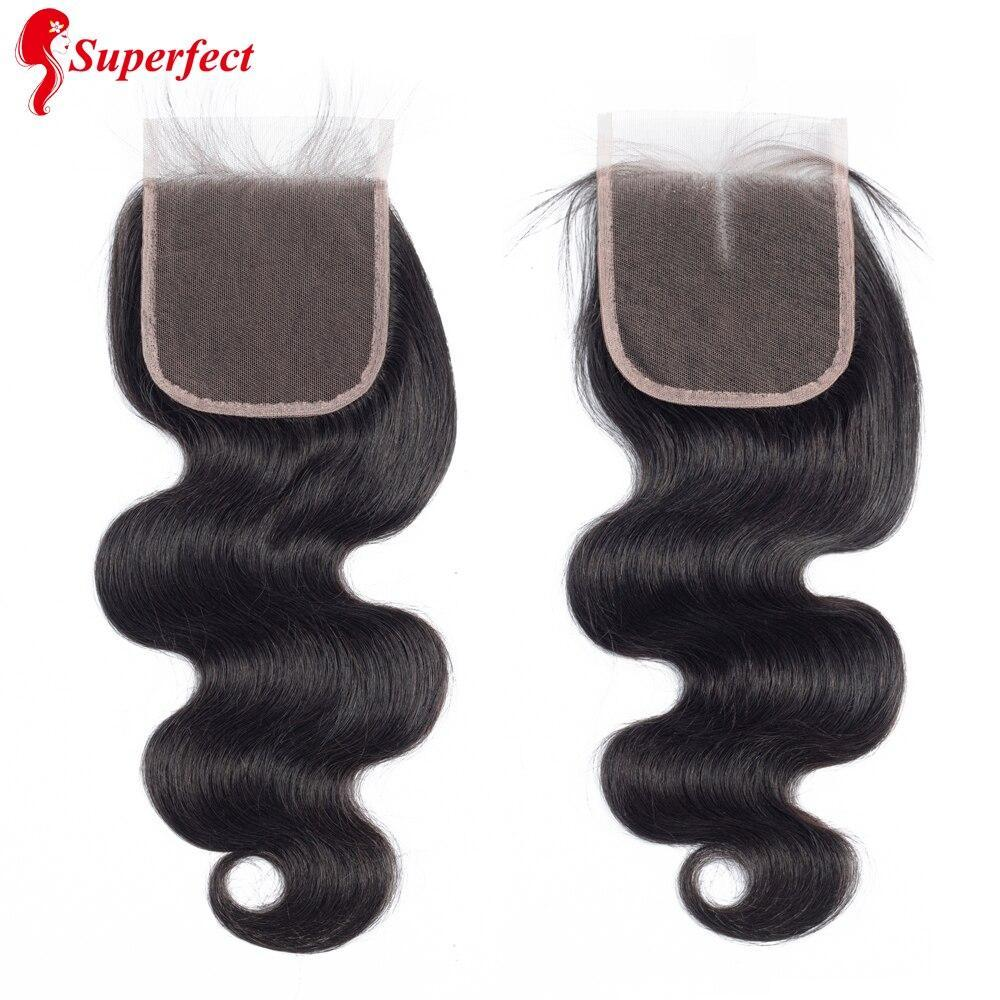 Superfect Body Wave Bundles With Closure Brazilian Hair Weave Bundles And Closure 100% Remy Human Hair Bundles With Closure