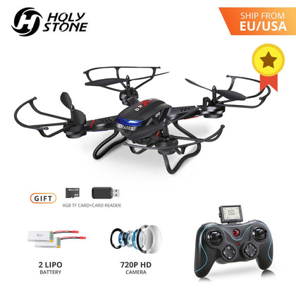[EU USA Stock] Holy Stone F181C RC Drone 4GB TF Card with 720P Camera 20 Minutes Flight RTF 4Ch 2.4GHz Altitude Hold Helicopter