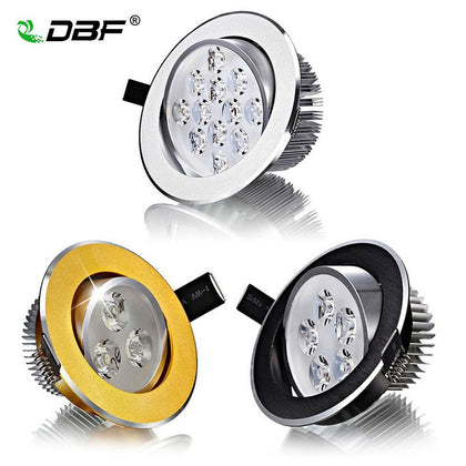 [DBF]Super Bright CREE Chip 3W 5W 7W 9W 12W 15W LED Ceiling Downlight Dimmable led Downlight Recessed LED Spot Light AC85-265V
