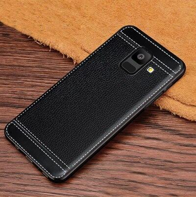 For Galaxy A6 2018 A600F Drop-Proof Leather Texture Soft Tpu Case For Samsung Galaxy A6 Plus 2018 A605G Coque Funda Capa