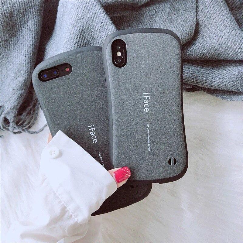 Iface Pc Matte Shock Phone Case For Iphone 6 6S 7 8 Plus X Xr Xs Max Back Cover Proof Frosted Hard Shell Coque For Iphone X Case