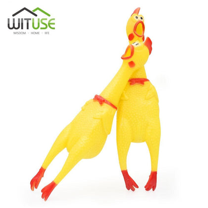 40cm 32m 17cm New Dog Toys for small large dog Yellow Screaming Rubber Chicken Pet Squeak Squeaker Chew Gift