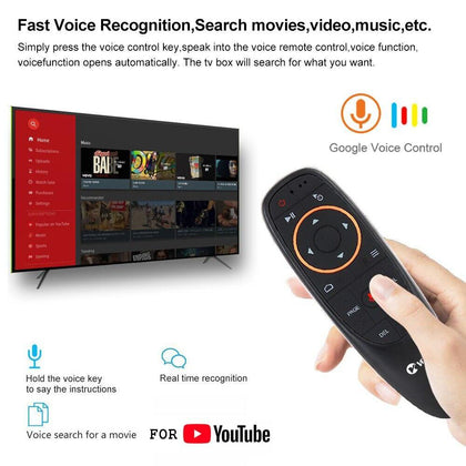 VONTAR G10 Voice Remote Control 2.4GHz Air Mouse Google Voice Search Assistant IR Learning 6-axis Gyroscope for Android TV Box