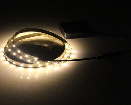 Battery Powered LED Strip Light 50CM 1M 2M 3M Adhesive Tape Lights SMD 3528 Battery Box Operated LED Stripe Warm Cool White