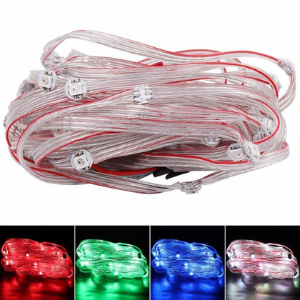 50 x Pre-soldered WS2812B Addressable RGB led pixel strip module nodes With 12cm wire WS2811 IC 5V