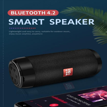 HANXI Column Portable Bluetooth Mini Speaker with Radio Waterproof Subwoofer Wireless Bluetooth Speakers Stereo Loudspeaker